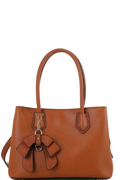 Cute Chic Designer Satchel with Long Strap