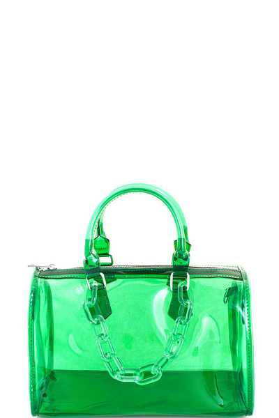 2in1 Semi Transparent Modern Jelly Bag with Long Strap