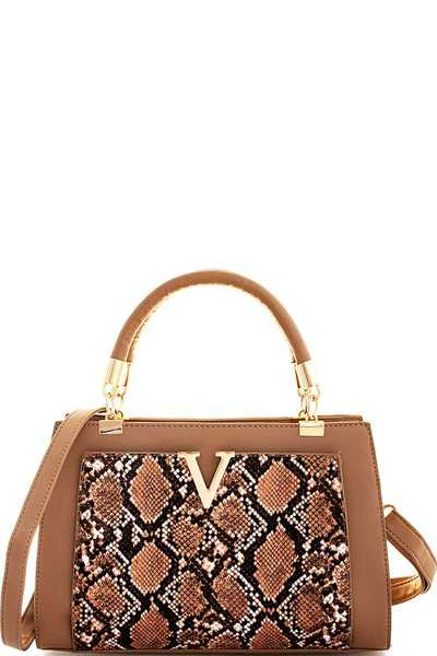 CUTE CHIC VENOM SATCHEL WITH LONG STRAP