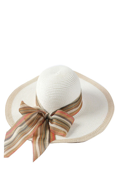 TWO TONE SUMMER STRAW HAT