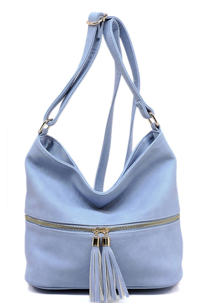Fashion Zip Crossbody Bucket Satchel