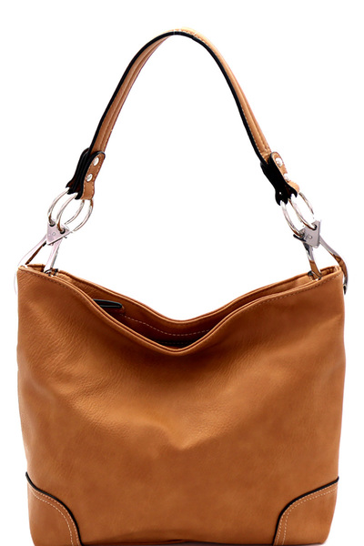 Side Ring Large Hooked Single Strap Hobo