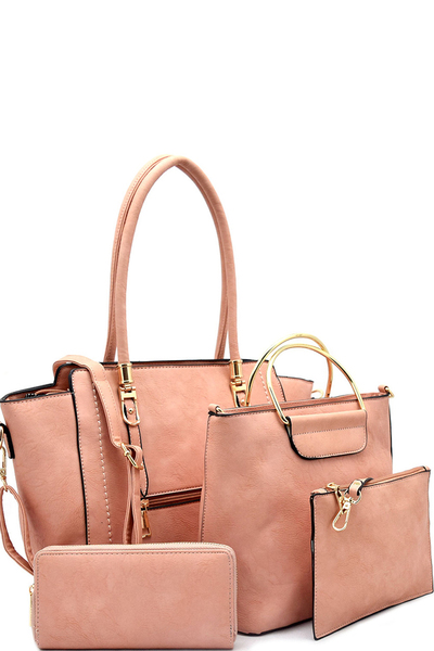 Hardware Accent 4 In 1 Matching Satchel Set