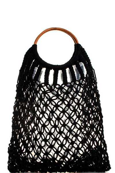 FASHION CHIC ROPE WOVEN TOTE BAG