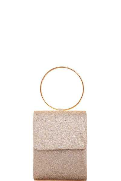 MODERN FASHION HOOP HANDLE CLUTCH WITH CHAIN