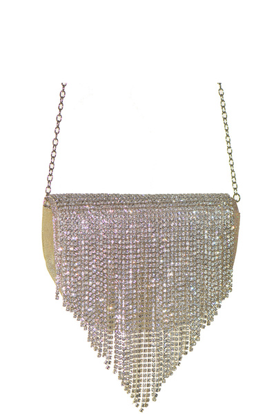 Crystal Flap Crossbody Bag