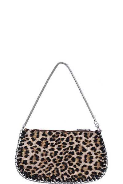LEOPARD CHAIN MINI BAG