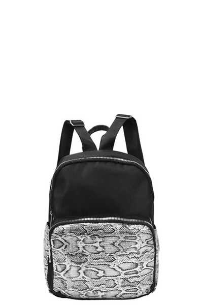MODERN ANIMAL SNAKE PRINT BACKPACK