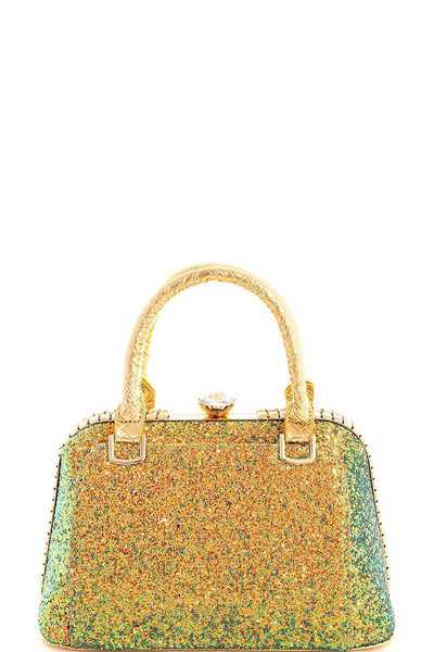 Cute Princess Glitter Satchel with Long Strap