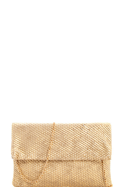 Fashion Woven Designer Clutch with Chain