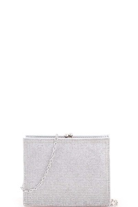 Chic Multi Rhinestone Zirconia Party Clutch with Chain