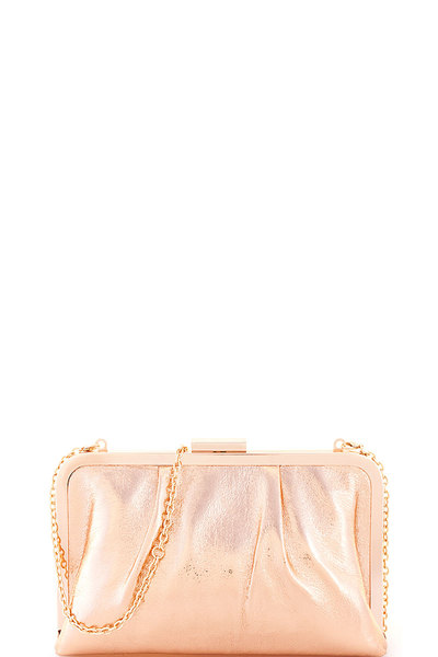 Chic Glossy Fashion Clutch with Chain