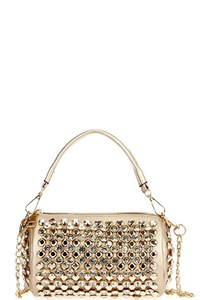 Rhinestone Saddle Baguette with Shoulder Chain