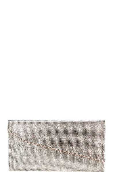 MULTI RHINESTONE EMBELLISHED EVENING PARTY CLUTCH WITH CHAIN