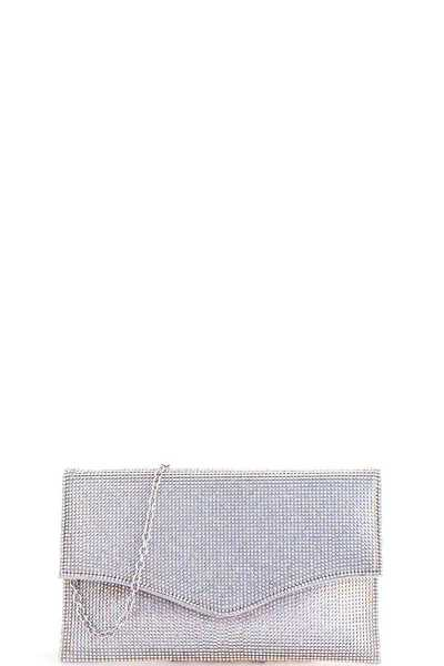 Fashion Multi Rhinestone Dotty Envelope Clutch with Chain