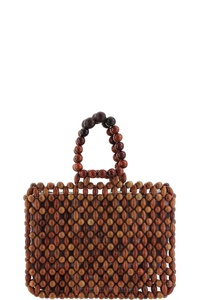 FASHION TRENDY WOODEN BEADED CUTE BAG