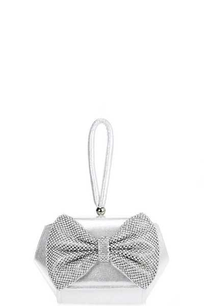 Rhinestone Bow Evening Clutch Bag