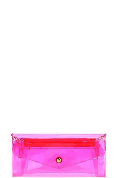HOT TRENDY TRANSPARENT NEON CROSSBODY CLUTCH BAG