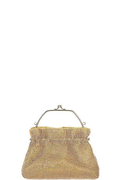 CUTE MULTI RHINSTONE PARTY PURSE WITH CHAIN