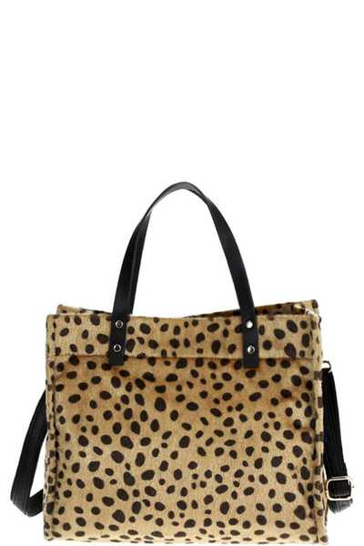 CUTE HOT TRENDY ANIMAL PRINT FUR TOTE BAG