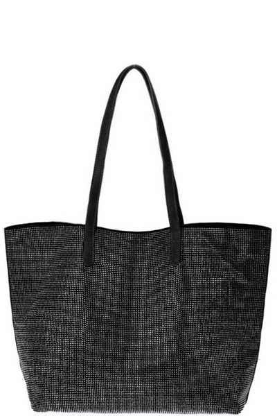 2IN1 FASHION RHINESTONE TOTE BAG