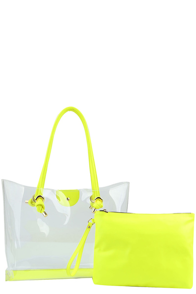 Neon See Thru 2-in-1 Shopper