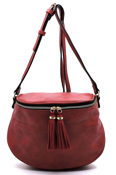Fashion Tassel Zippper Crossbody Bag