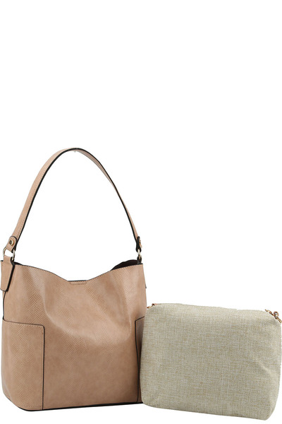 2 in 1 Trendy Hobo with Long Strap