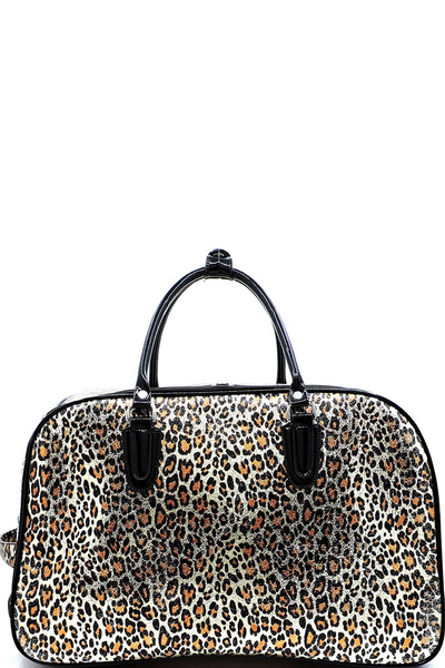 Leopard Wheeled Carry On Luggage