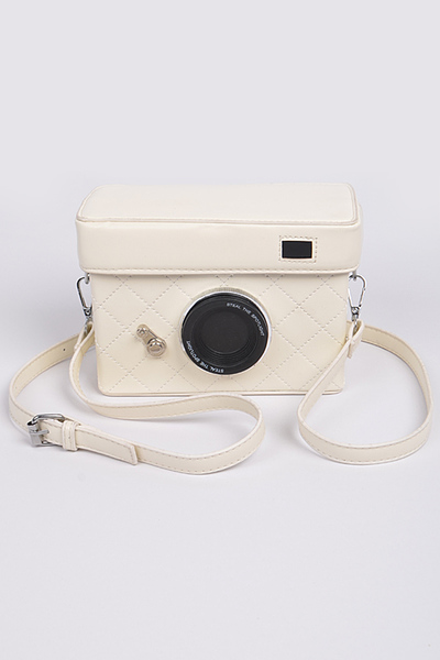 Camera Style Cross Body Strap Clutch