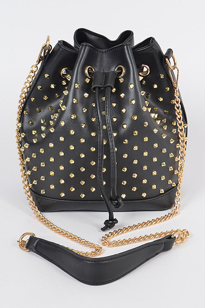 Spike Studded Bucket Bag