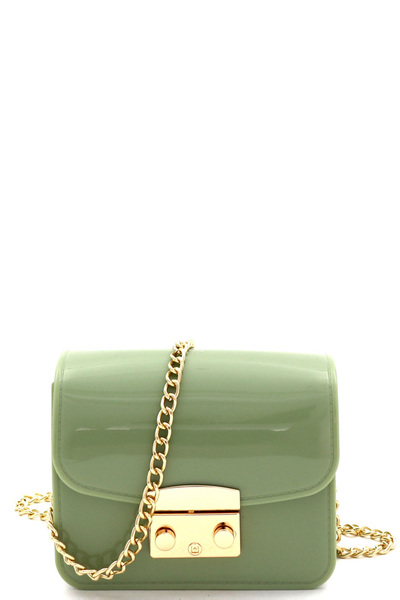 Pinch-Lock Accent Jelly Micro Mini Cross Body