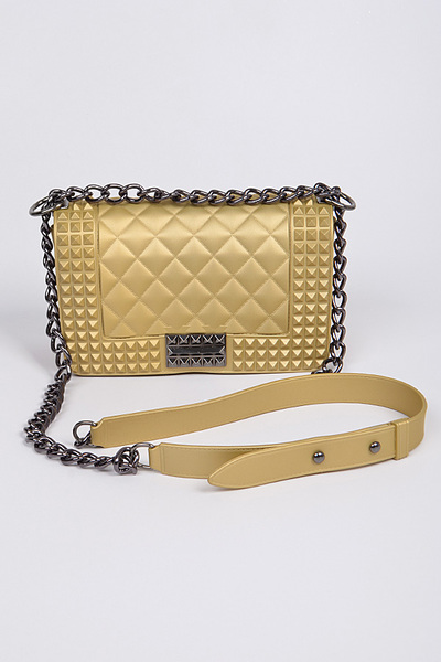 Studded Monotone Clutch