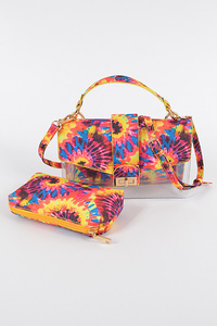 Tie Die Print Clear Bag
