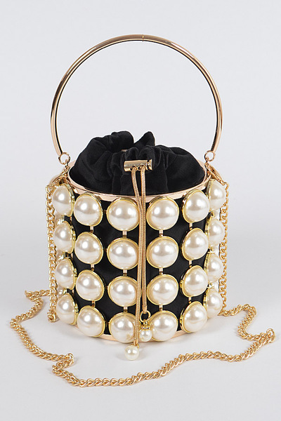 Pearl Embelished Clutch