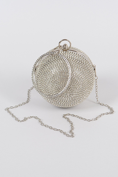 Rhinestone Ball Clutch