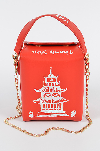 Chinese Take Away Clutch W/handle