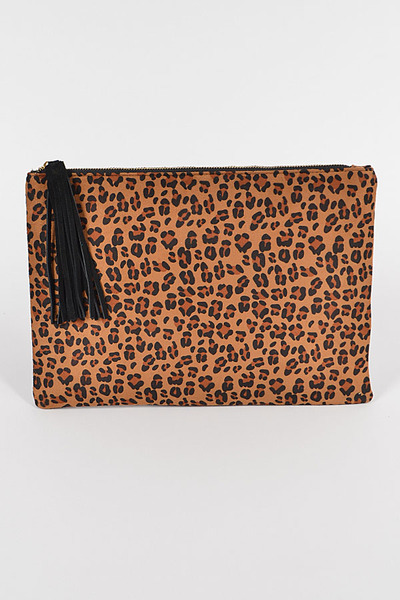 Leo Super Suede Pouch