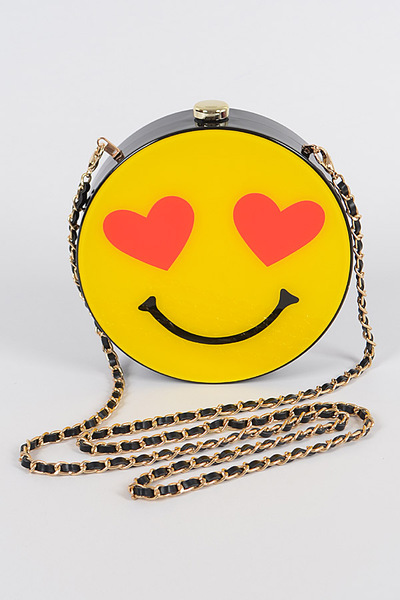 Happy Lovely Face Plastic Clutch