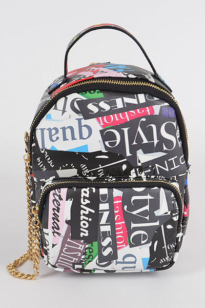 Graffiti Multi Color Backpack
