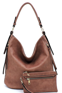 Fashion Zipper 2-in-1 Shoulder Bag Hobo
