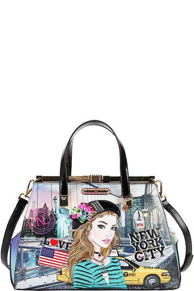 Nicole Lee NEW YORK SATCHEL BAG