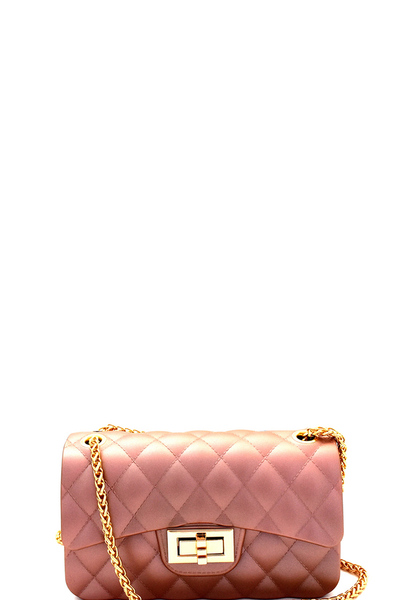 Embossed Jelly 2-Way Small Shoulder Bag