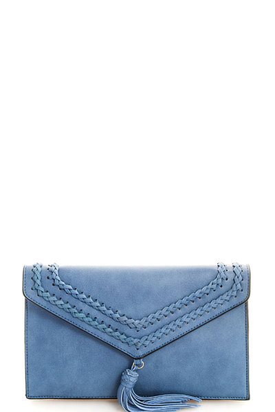 Hot Trendy Tassel Envelope Clutch with Chain