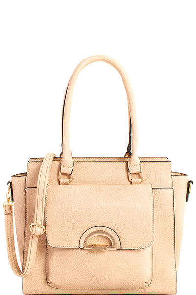 3in1 Modern Trendy Chic Satchel with Long Strap