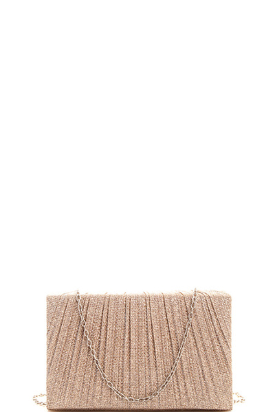 Chic Silky Evening Party Clutch with Chain