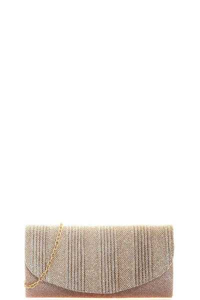 SILKY MODERN PARTY CLUTCH WITH CHAIN