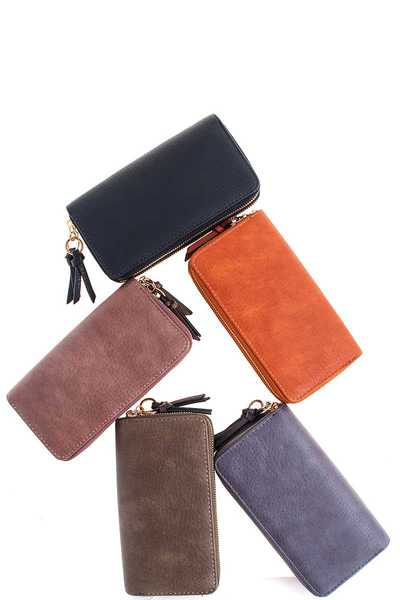 Fashion Chic Double Side Long Wallet Bulk Pack