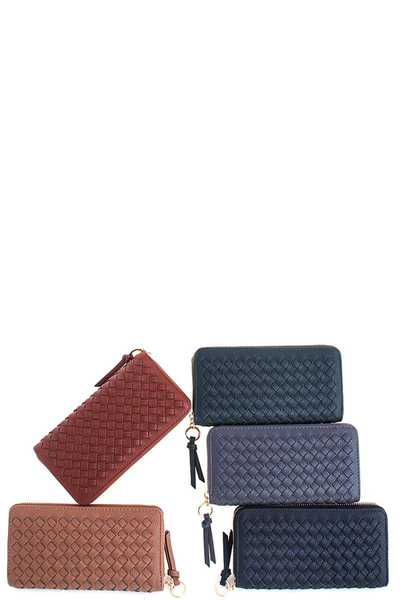 Designer Fashion Woven Long Wallet