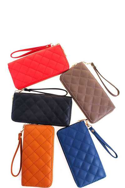 Fashion Modern Stitch Long Wallet with Wristlet
